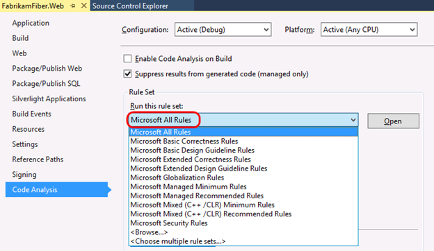 Using Code Analysis with Visual Studio 2019 to Improve Code Quality