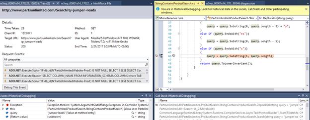 Debugging with IntelliTrace in Visual Studio Enterprise 2019