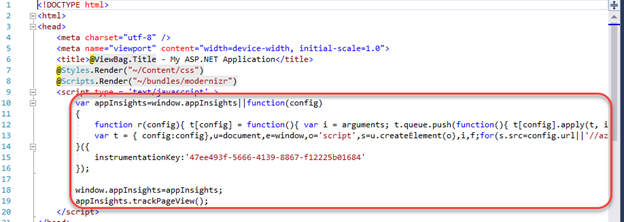 Instrumenting ASP NET with Application Insights in Visual Studio