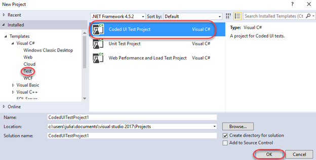 UI Automation using Coded UI Tests with Visual Studio