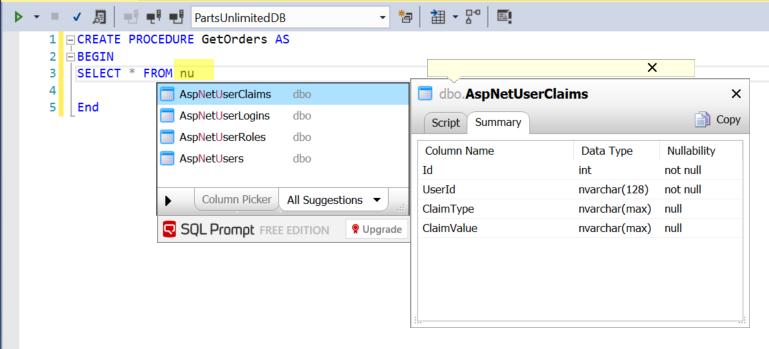 SQL Prompt for Visual Studio Enterprise 2017 | Azure DevOps